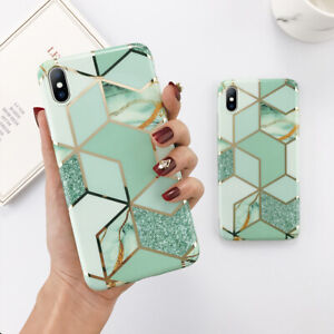 For-iPhone-11-XS-Max-XR-X-8-7-6-6s-Plus-IMD-Grid-Soft-TPU-Case-Shockproof-Cover