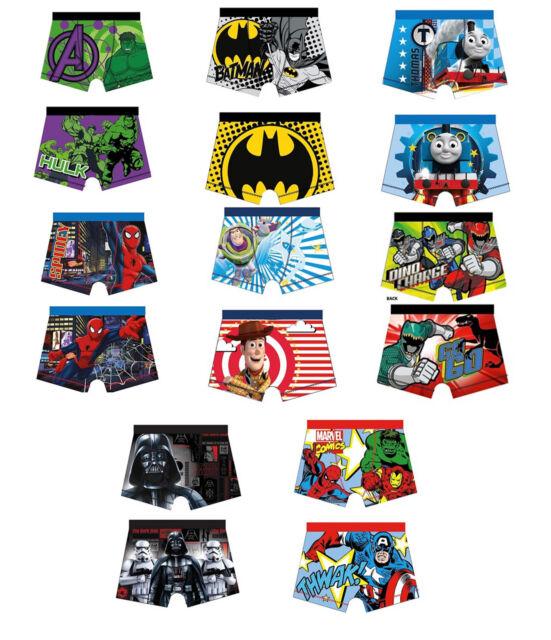 1 par oficial Para Niños Personaje Boxers Ropa Interior Bóxers Pantalones