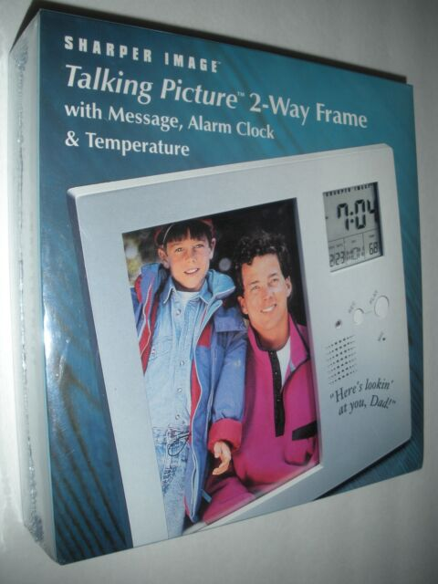 Sharper Image Talking Picture 2 Way Frame With Message Alarm Clock