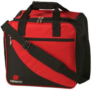 Ebonite Basic Single Red/Black 1 Ball Bowling Bag