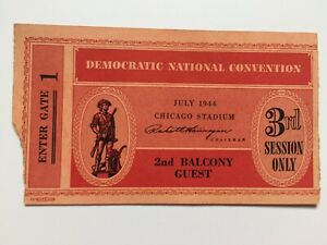 1944-Democratic-National-Convention-Guest-Ticket-Franklin-Roosevelt-3rd-Session