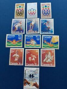 Canada-Olympic-stamps-B1-B12-B13-Semi-postal-VFmnh-see-details-amp-photo