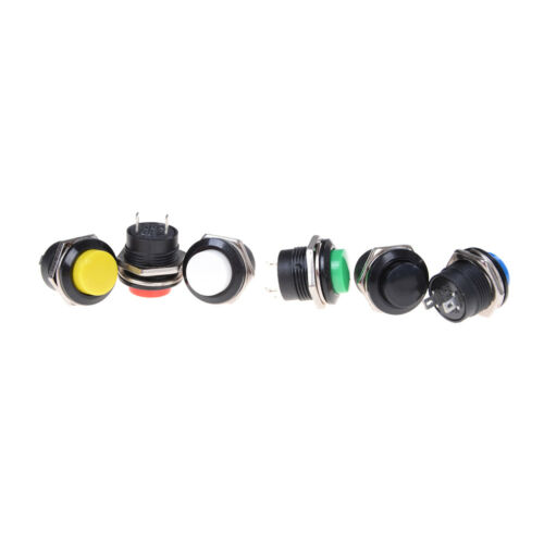 5Pcs R13-507 Momentary Button Switch Installing Hole 16mm 3A Good DSUK