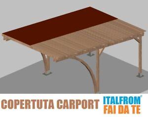 Copertura In Legno Fai Da Te : Copertura completa perline feltro canadese per carport in legno