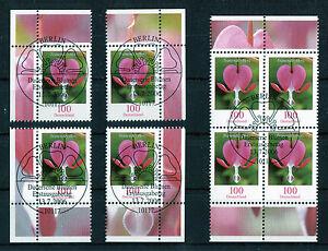 Bund-Blumen-2547-gestempelt-Vollstempel-Eckrand-oder-Viererblock-ESST-BRD-2006