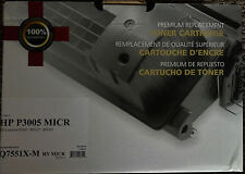 BRAND NEW UNOPENED Compatible Q7551X MICR toner cartridge. For HP® P3005, M3027