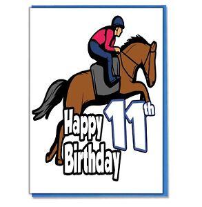 Horse-Riding-11th-Birthday-Card-Girls-Boys-Daughter-Son-Grandaughter-Friend