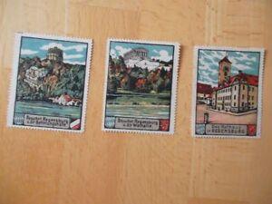 (714) 3 Vignetten mit Ansichten von Regensburg - Sulzbach, Deutschland - (714) 3 Vignetten mit Ansichten von Regensburg - Sulzbach, Deutschland