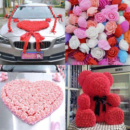 100Pcs Multicolor Simulated Foam Rose Flower Head Wedding Party DIY Decor Crafts