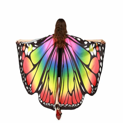 Butterfly Wings Cape Shawl Adult Fairy Pixie Cloak Costume Fancy Dress Party UK