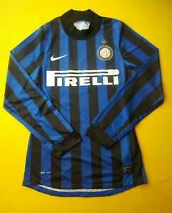 Inter-Milan-2011-2012-Authentic-Jersey-S-Long-Sleeve-Shirt-Nike-439892-010-ig93