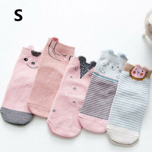 Boy Girl Crew Ankle Socks Stockings Lot Casual 0-1 1-3 3-5 Baby Toddler f vbn