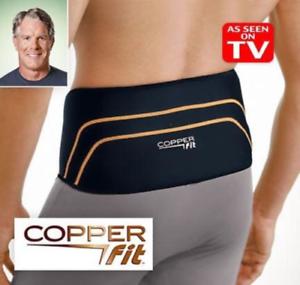 "Copper Fit Back Pro Back Brace Compression Lower Lumbar Support Belt 39-46"""