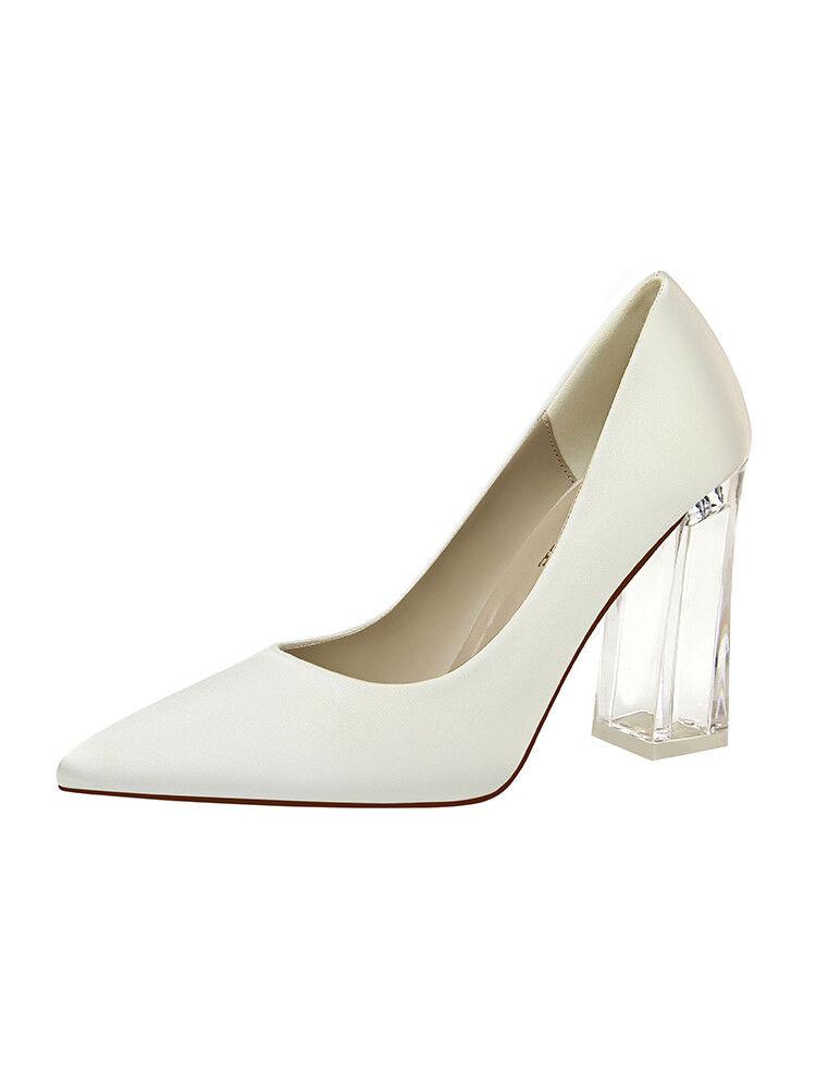 Decolte shoes trasparente eleganti grey tacco quadrato 10 simil pelle 1741