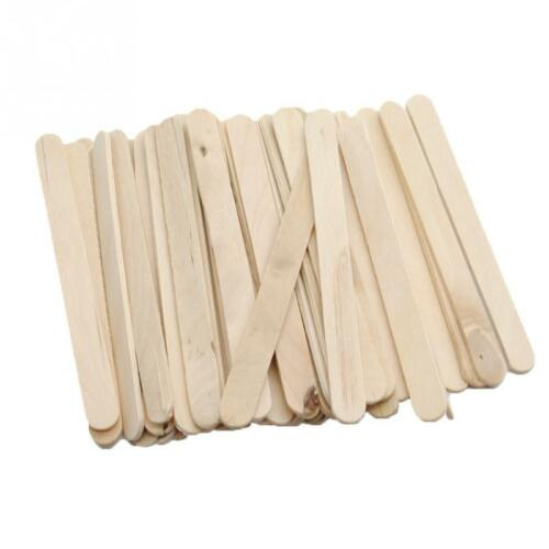 Wood craft sticks natural multi coloured BLANK LOLLY STICKS flat small wooden