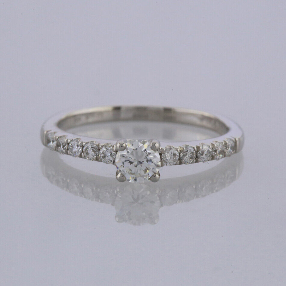 Diamond Solitaire Engagement Ring Platinum 0.46 carats Size K