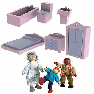 New Wooden Doll House Furniture Set 1 12 Scale 18pcs 3