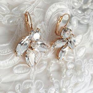 30c16ff1013edd Image is loading Diamond-Leaf-Crystal-Drop-Earrings-With-CRYSTALLIZED- Swarovski-