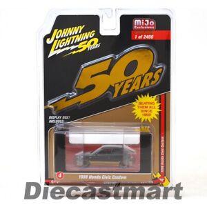Johnny-Lightning-1-64-50th-Anniversary-1998-Honda-Civic-Custom-Model-JLCP7197