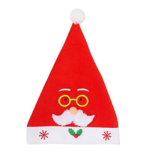 1-10x Adult Kid Bottle Christmas Cap Soft Plush Santa Claus Dress Hat Party Gift