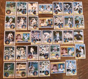 1983-NEW-YORK-YANKEES-Topps-COMPLETE-Team-Set-34-Cards-NETTLES-GOSSAGE-WINFIELD