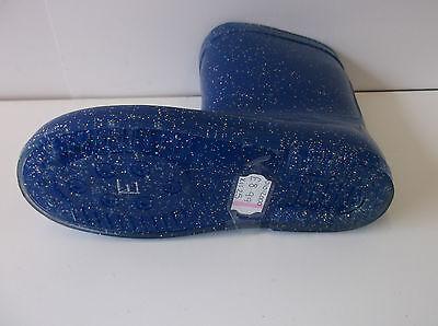 Mädchen rosa/schwarz / Blau Glitter Gummistiefel UK Größen 5 - 12 X1125