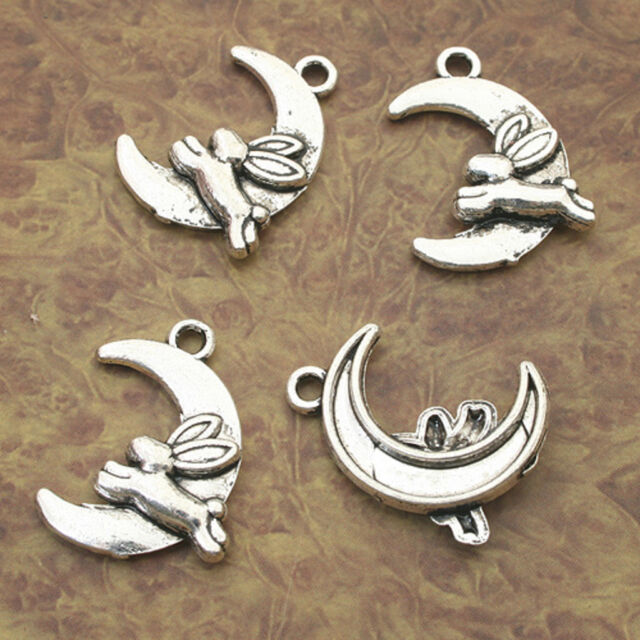 Pack Of  10 Pcs Sea Shell Charms Antique Tibetan Silver Tone 2 Sided TE2026