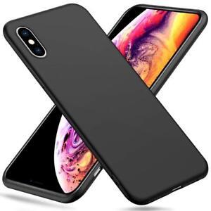 CUSTODIA per iPhone X / XS / XS MAX / XR Cover NERA Soft TPU NERO ...