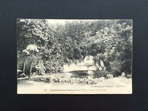 Carte-Postale-Ancienne-de-1909-CHATILLON-SUR-SEINE-Source-DE-la-Douix