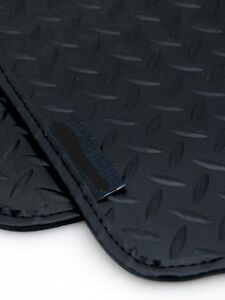 5mm Heavy Duty Rubber Car Mats for BMW X5 4x4 00-07 - Black Leather Trim