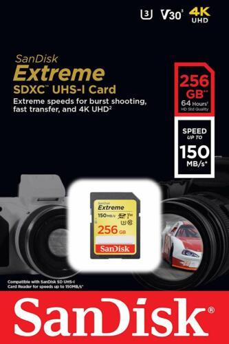 Sandisk 256GB FS Extreme 4K V30 Hd Tarjeta Sd Para Canon EOS R M50 M6 M5