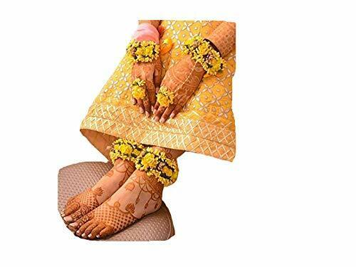 4 Items Bridal Yellow Flower Hand & Leg Jwellery Set Crafts Jewellery -free Ship Products Are Sold Without Limitations