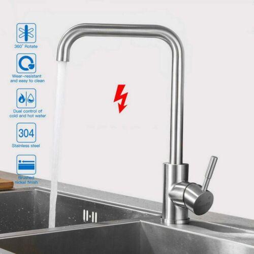 360° Edelstahl Küchenarmatur Wasserhahn Spültischarmatur Mischbatterie DHL NEU