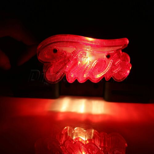 Motorcycle Rear Tail Stop Brake LED Red Light with License Plate Mount Holder
