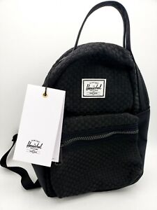 Herschel-Supply-Co-Woven-Nova-Mini-Backpack-Travel-Pack-Zippered-Black