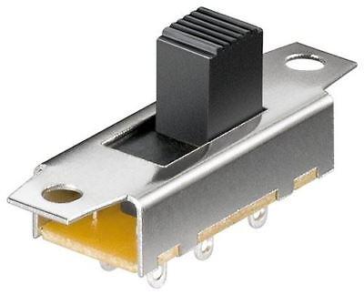 GOOBAY diapositiva Interruptor 2x um 6 Pines Plateado//latón 10171
