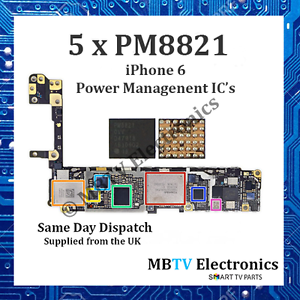 5 x PM8821-iPhone 6 piccoli Power Management IC-Riparazione surriscaldamento/MORTO