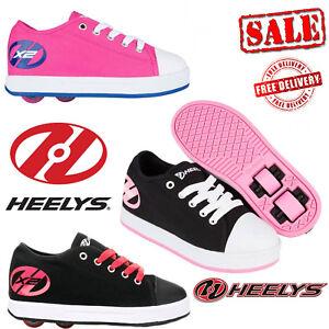 Heelys-X2-Fresh-Kids-Wheels-Girls-Roller-Skates-Shoes-Pink-Black-Unisex-Trainers