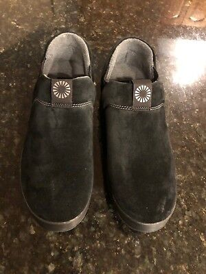 2010e2ea087 UGG Hanz Black Casual Shoes Or Slippers- New In Box Size 8 | eBay