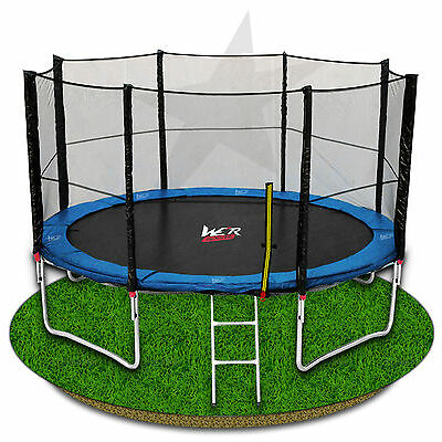 We R Sports Trampoline With Safety Net Enclosure Ladder Rain Cover 6 8 10 12 14