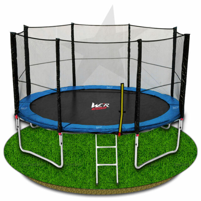 We R Sports® Trampoline With Safety Net Enclosure Ladder Rain Cover 6 8 10 12 14