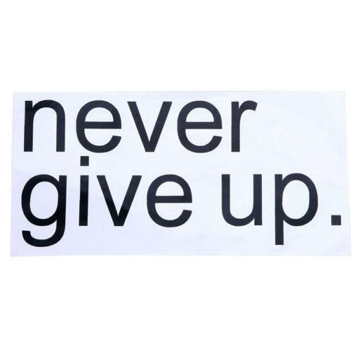 Never Give Up Words Quote Wall Decal Home Room  Art Removable Sticker BS