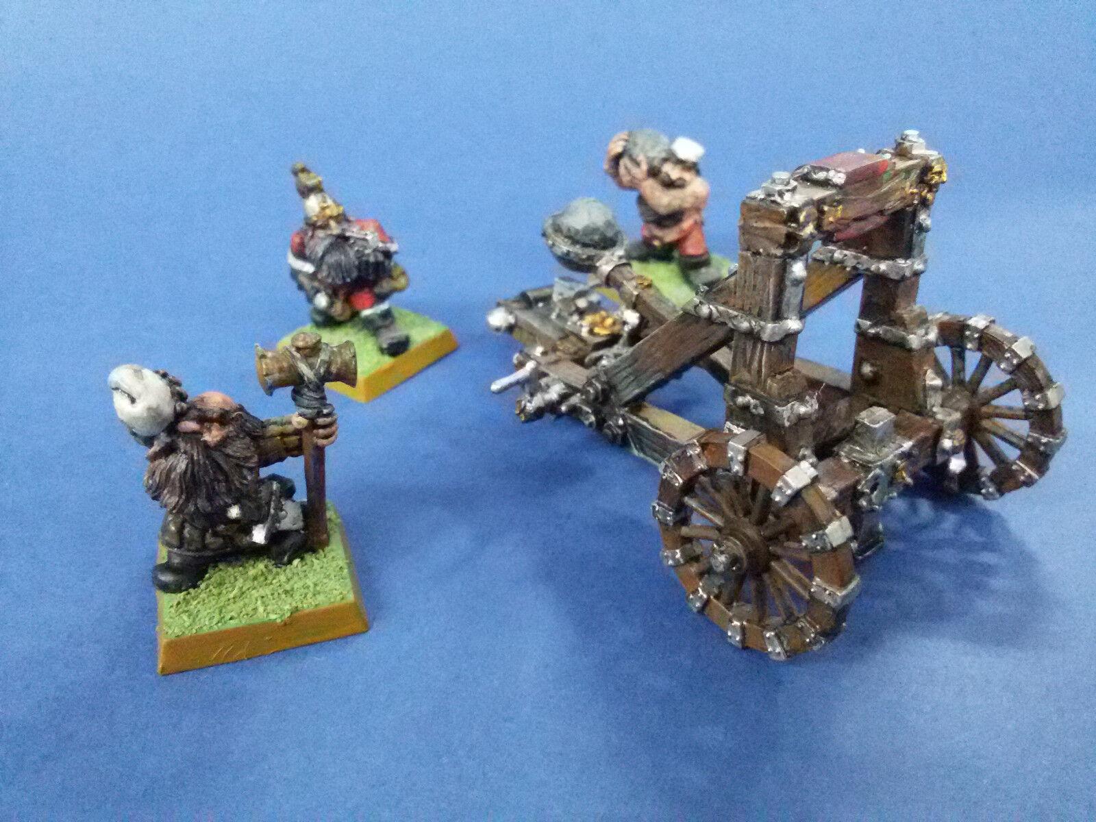 Games Workshop Warhammer Dwarf Grudge Thrower & Crew vintage metal minature
