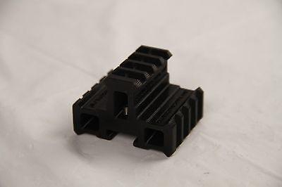 3D Printed - Nerf to Picatinny 90° Offset Tri Mini Extended Rail for Nerf Gun