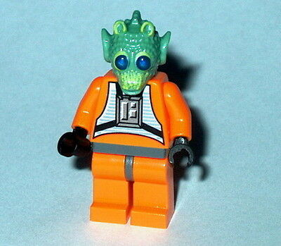 STAR WARS #43A Lego Rodian X-wing Pilot NEW Custom-Greedo,Wald