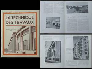 Analytique La Technique Des Travaux N°11 1939 Musee Travaux Publics Perret, Canal Albert Riche Et Magnifique