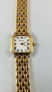 Bulova watch women, gold rolled , jewelry watch