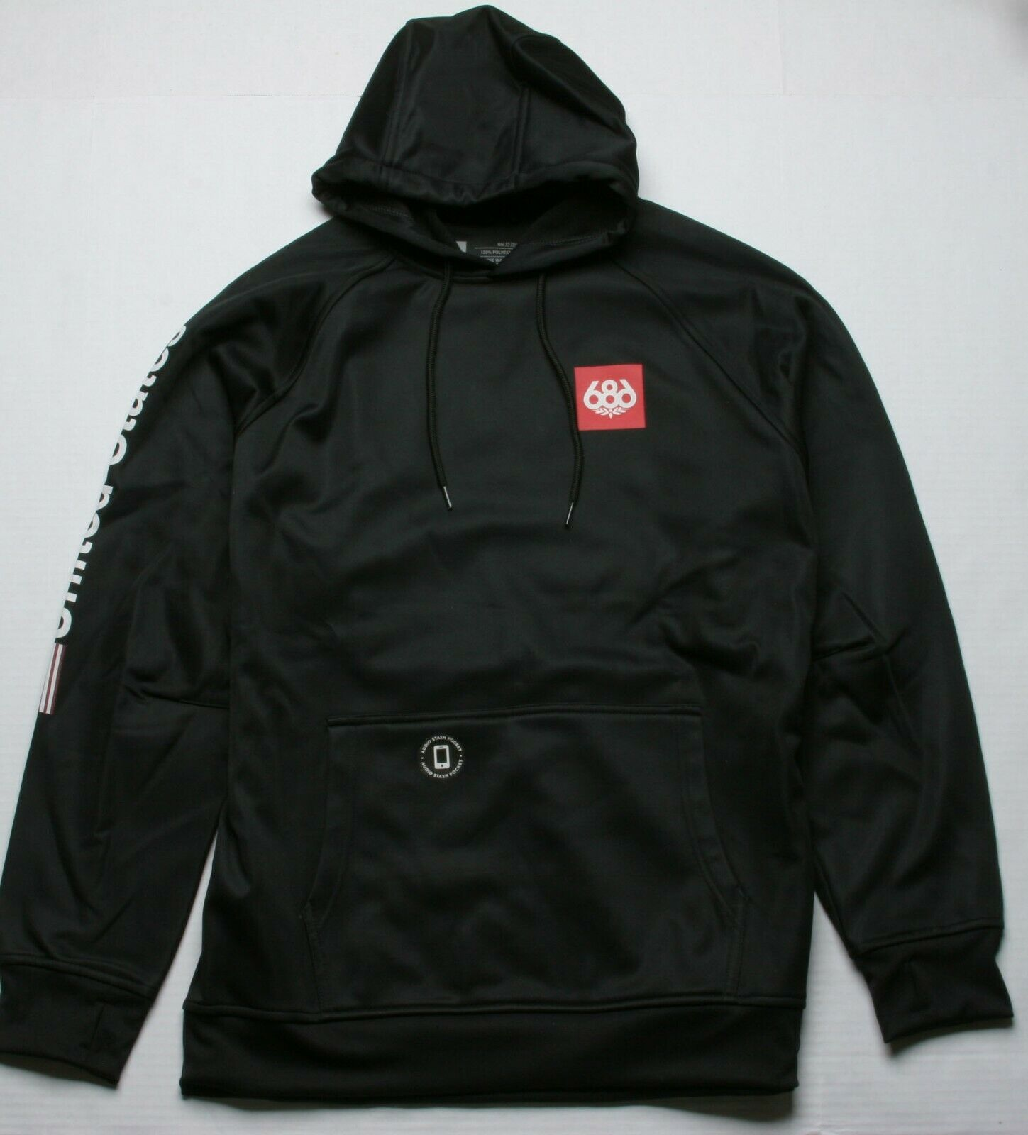 686 Home Anorak Fleece (L) Black M0WLAY02-BLK