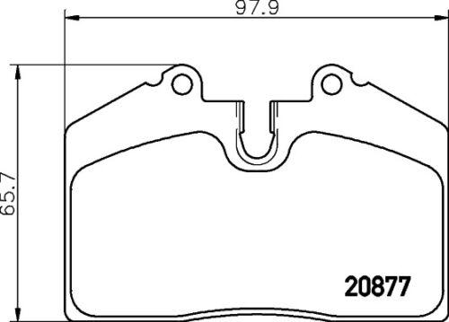 BRAND NEW Mintex Front Rear Brake Pad Set MDB1456 5 YEAR WARRANTY