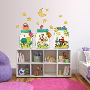 R00419-Wall-Stickers-Adesivi-Murali-Camerette-Favole-in-barattolo-120x30-cm